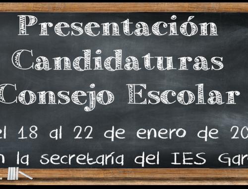 Candidaturas Consejo Escolar IES Garoé